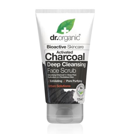 Dr. Organic Mélytiszító arcradír aktív szénnel (125 ml)