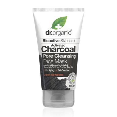 Dr. Organic Pórustisztító arcpakolás aktív szénnel (125 ml)