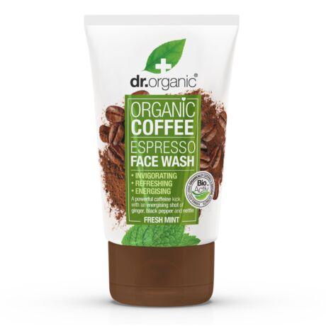 Dr. Organic élénkítő arclemosó bio kávéval (125 ml)