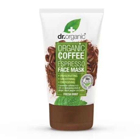 Dr. Organic Élénkítő arcpakolás bio kávéval (125 ml)