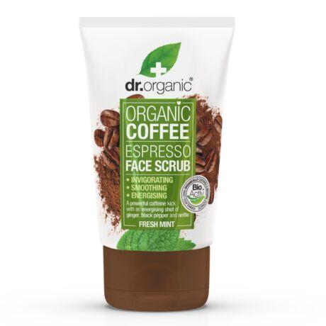 Dr. Organic Élénkítő arcradír bio kávéval (125 ml)