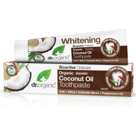 Dr. Organic Fogkrém bio kókuszolajjal (100 ml)