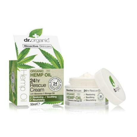 Dr. Organic 24 órás Elsősegély krém bioaktív kendermagolajjal (50 ml)