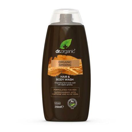 Dr. Organic Men Men 2 az 1 ben sampon és tusfürdő bio ginzenggel (250 ml)
