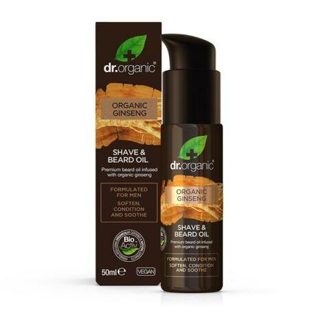 Dr. Organic Men Borotválkozó és szakállápoló olaj bio ginzenggel (50 ml)