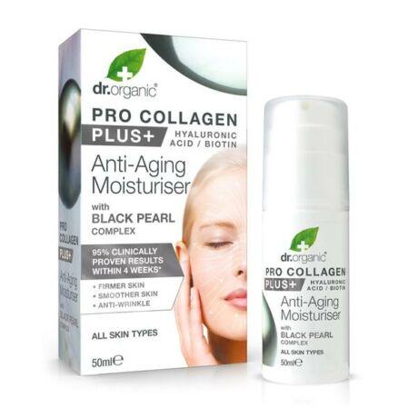 Dr. Organic Pro Kollagen Anti-aging hidratáló arckrém fekete gyönggyel (50 ml)
