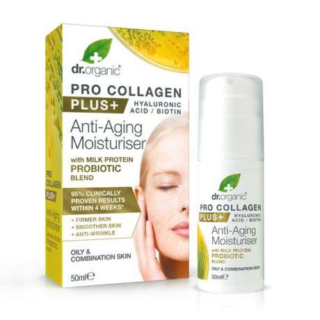 Dr. Organic Pro Kollagen Anti-aging hidratáló arckrém tejprotein probiotikummal (50 ml)
