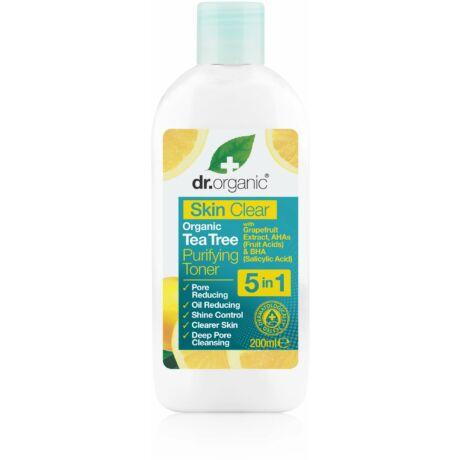 Dr. Organic Skin Clear pórustisztító arctonik 5 az 1-ben (200 ml)
