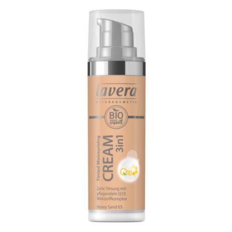Lavera Dekor Q10 színezett hidratáló krém 3in1 Honey sand 03 (30 ml)