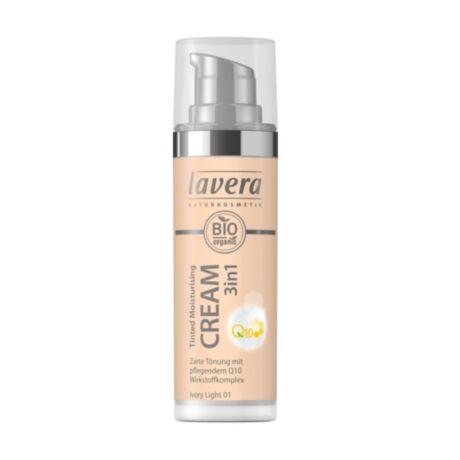 Lavera Dekor Q10 színezett hidratáló krém 3in1 Ivory light 01 (30 ml)
