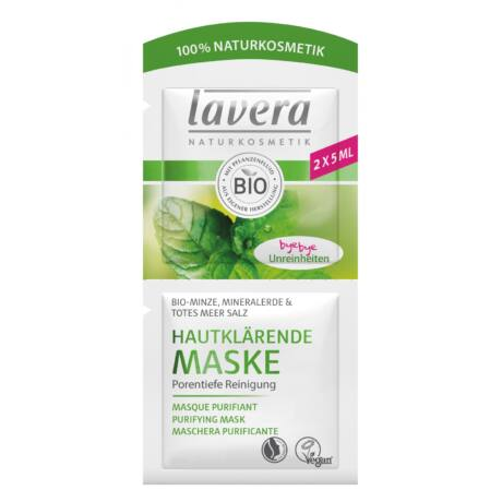 Lavera Tiszító arcmaszk zsíros bőrre - menta, iszap (2×5 ml)