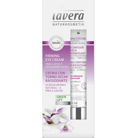 Lavera FACES Bőrfeszesítő szemránckrém - hyaluronsav, karanjaolaj (15 ml)