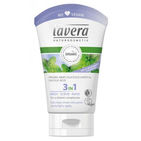 Lavera FACES 3in1 arctisztító/radír/maszk - zsíros bőrre (125 ml)