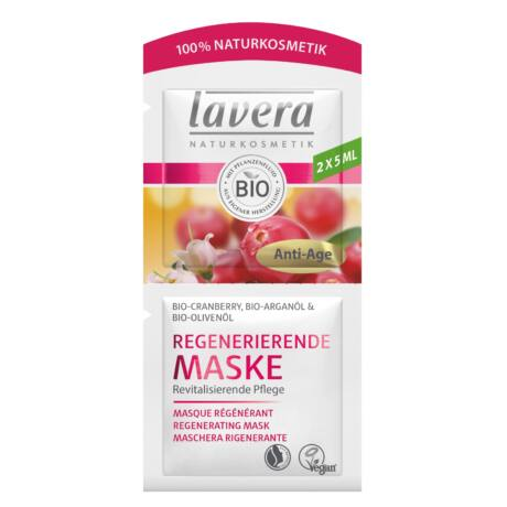 Lavera FACES Regeneráló arcmaszk - vörösáfonya, argán (2×5 ml)