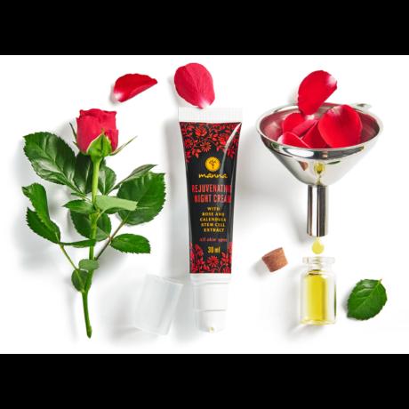 Manna Éjszakai krém rózsa és körömvirágőssejt kivonattal (30 ml)