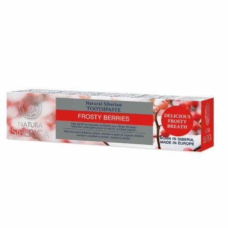 """Natura Siberica """"Frosty Berries"""" Flouridmentes gyümölcsös fogkrém (100 g)"""