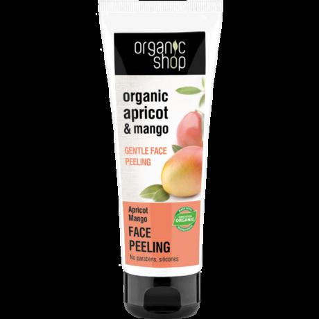 Organic Shop Barackos mangó gyengéd arcpeeling - barack, mangó (75 ml)