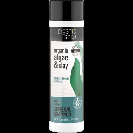 Organic Shop Kék Lagúna Erősítő sampon - alga, agyag (280 ml)