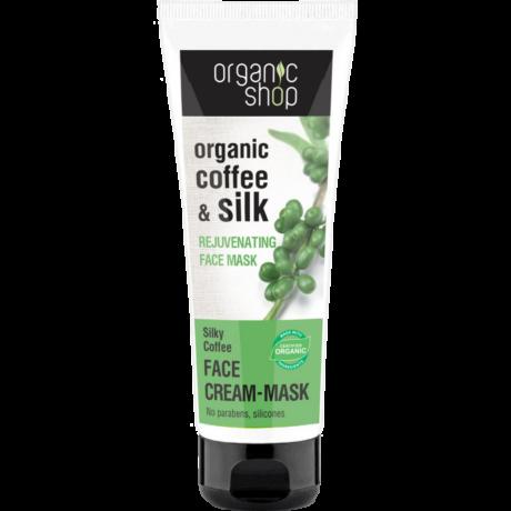 Organic Shop Selymes Kávé Bőrfiatalító arcpakolás - kávé, selyem (75 ml)
