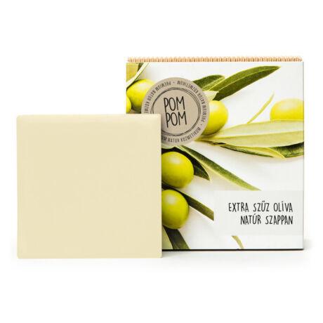 PomPom Extra szűz olíva natúr szappan négyzet (100 g)