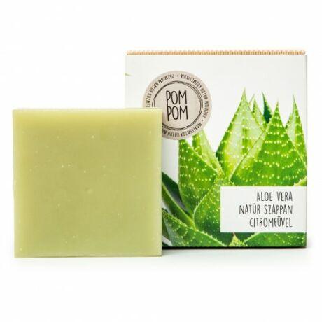 PomPom Aloe vera natúr szappan - négyzet (100 g)