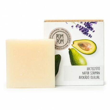 PomPom Arctisztító natúr szappan - négyzet (100 g)