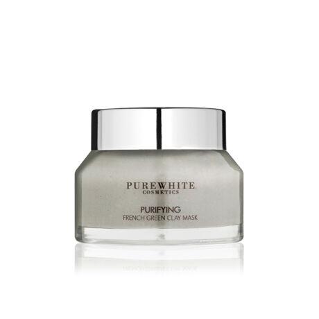 Pure White Tisztító Francia Zöldagyag Maszk – zsíros, aknés bőrre (50 ml)