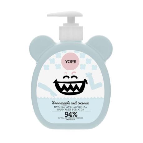 YOPE Kókusz és ananász természetes, antibakteriális kézmosó szappan gyermekeknek (400 ml)