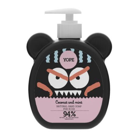 YOPE Kókusz és menta természetes kézmosó szappan gyermekeknek (400 ml)