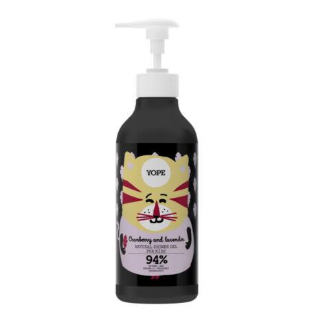 YOPE Vörösáfonya és levendula természetes tusoló zselé gyermekeknek (400 ml)