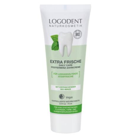 Logodent Extra Fresh Daily care fogkrém bio borsmentával (75 ml)