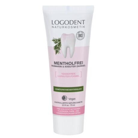 Logona Logodent Mentolmentes gyógynövényes foggél rozmaringgal (75 ml)