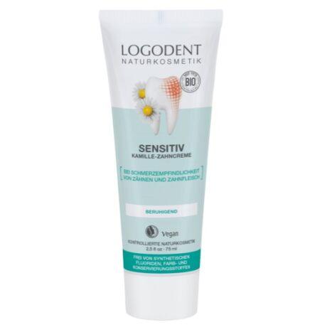 Logona Logodent Sensitive fogkrém kamillával nyugtató hatással (75 ml)