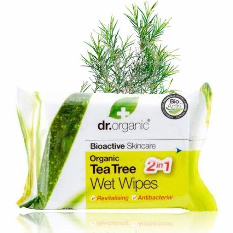 Dr. Organic Bio teafaolaj nedves törlőkendő
