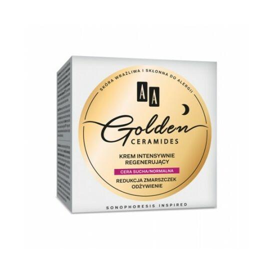 AA Golden Ceramides Intenzíven regeneráló éjszakai krém száraz/normál bőrre (50 ml)