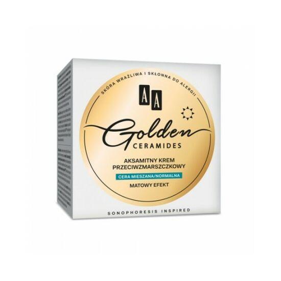 AA Golden Ceramides Selymes ránctalanító nappali krém vegyes/normál bőrre (50 ml)