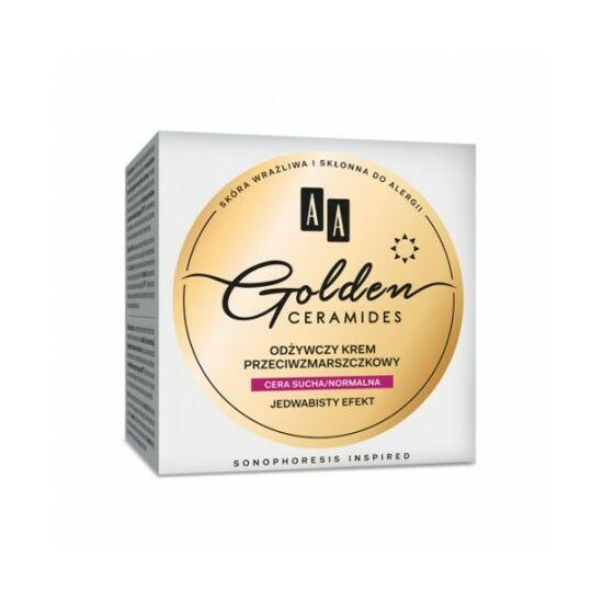 AA Golden Ceramides Tápláló ránctalanító nappali krém száraz/normál bőrre (50 ml)