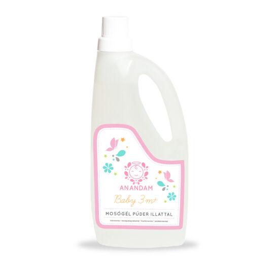 Anandam Baby mosógél 3m+ púder illattal (1 l)
