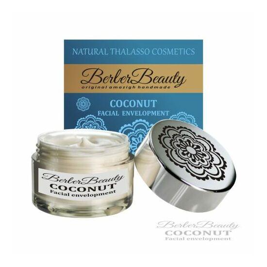 Berber Beauty Kókuszos bőrfeszesítő fehér agyagpakolás