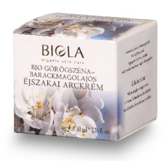 Biola Bio görögszéna-barackmagolajos éjszakai arckrém