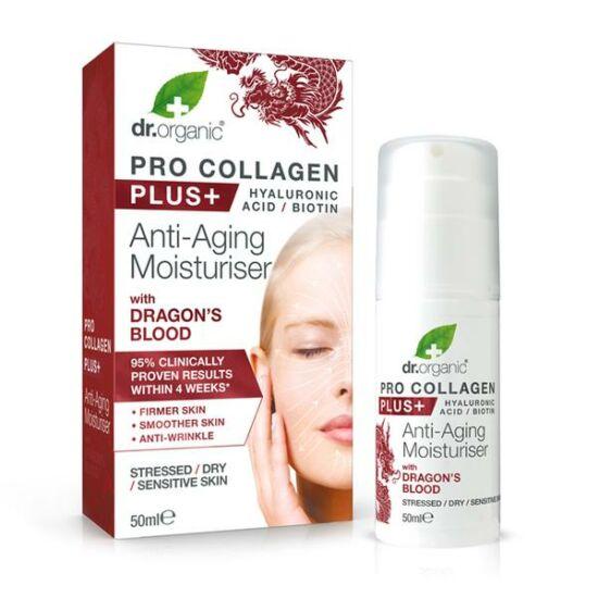 Dr. Organic Pro Kollagen Anti-aging hidratáló arckrém sárkányvérfa kivonattal (50 ml)