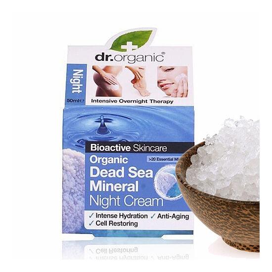 Dr. Organic Bio természetes Holt-tenger éjszakai arckrém