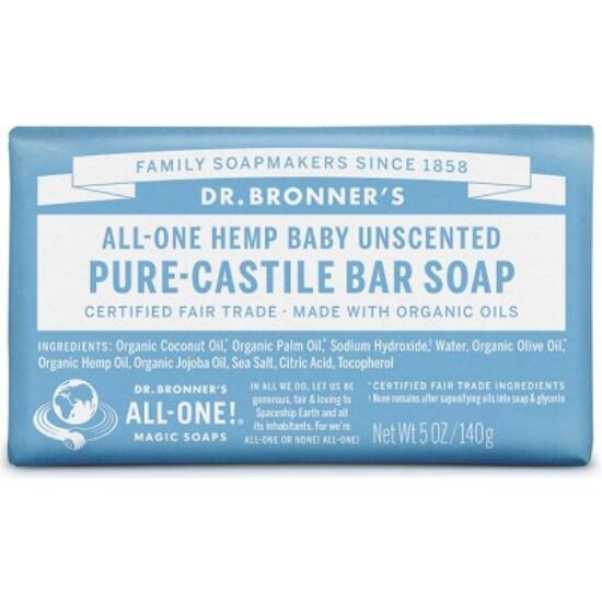Dr. Bronner's Illatmentes lágy szilárd szappan