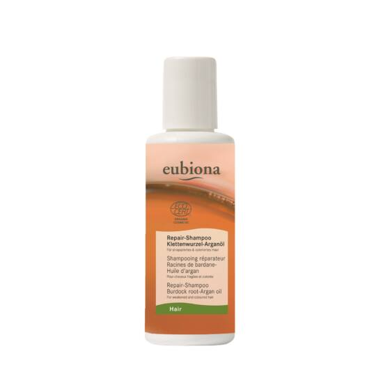 Eubiona Repair sampon: Bojtorján—Argánolaj igénybe vett és festett hajra