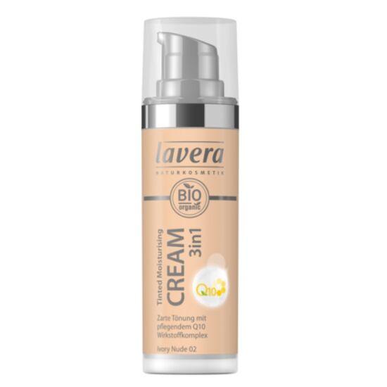 Lavera Dekor Q10 színezett hidratáló krém 3in1 Ivory nude 02 (30 ml)