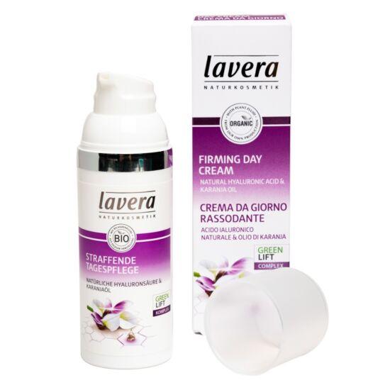 Lavera FACES Nappali bőrfeszesítő krém - hyaluronsav, karanjaolaj (50 ml)