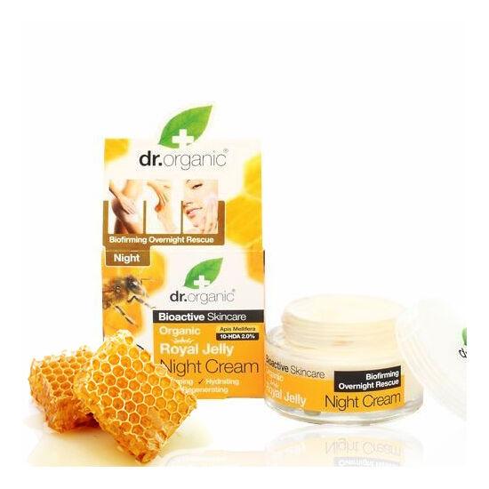 Dr. Organic Bio méhpempő öregedésgátló éjszakai krém