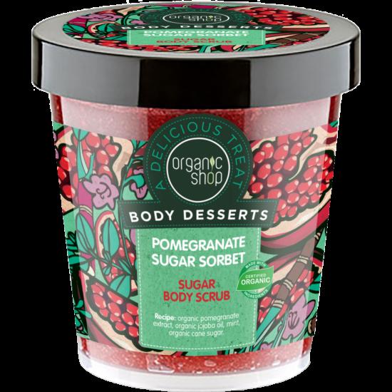 Organic Shop Édes Gránátalma Sorbet Testradír Nádcukorral (450 ml)
