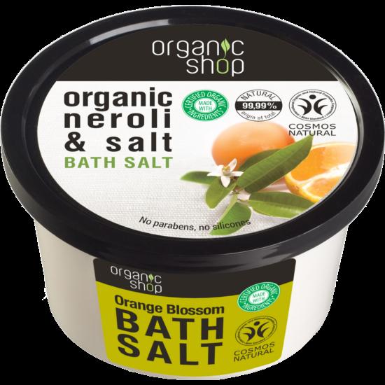 Organic Shop Narancsvirágzás Fürdősó - narancsvirág, tengeri só (250 ml)