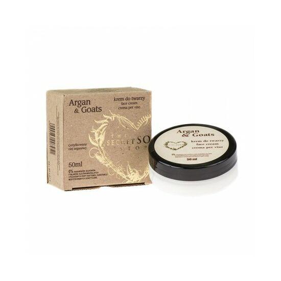 Secret Soap ARGAN & GOATS  Argánolaj - kecsketej arckrém (50 ml)